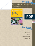 What Should Every EFL Teacher Know - Ppt