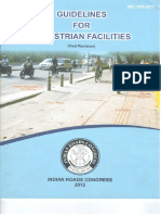 IRC 2012 (Guidelines for Pedestrian Facilities)