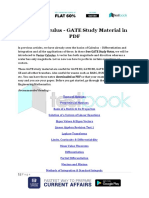 Vector Calculus GATE Study Material in PDF