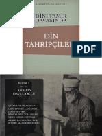 Ahmet Davudoğlu - Dini Tamir Davasında Din Tahripçileri