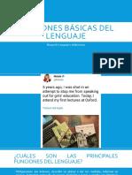 Funciones Básicas Del Lenguaje