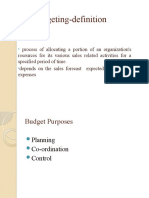 Sales Budgeting Ppt