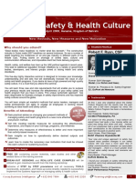 Managing Safety & Health Culture