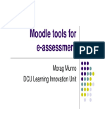 Moodle Tools for E-Assessment