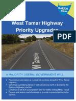 West Tamar Highway Priority Upgrades