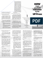 How to Get Your Book Published by the UP Press