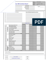 Hse Activities Report Pp701-Hse-f05 Rev c