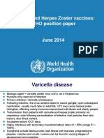 WHO Pp Varicella Herpes Zoster June2014 Presentation