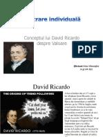 David Ricardo Conceptul de Valoare