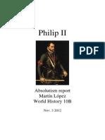 Philip II Absolutism Report