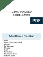 Tm-3-Format Penulisan Artikel Ilmiah