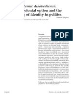 Epistemic disobedience the de-colonial option and the meaning of identity in politics - W. Mignolo.pdf