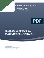 Teste de Evaluare La Matematica - Gimnaziu