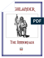 Highlander the Immortals Core Rulebook