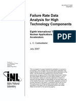 Failure Rate Data Analysis for High Technology Components