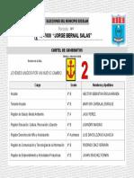 Cartel candidatos escolares  N° 2.ppt