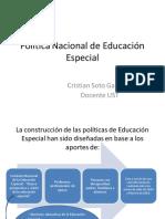Política Nacional de Educación Especial
