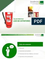 PPT - Taller Práctico Uso de Extintor