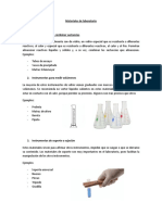 Conocer Los Materiales de Laboratorio