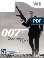 007 - Quantum of Solace - Manual - WII