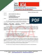 Informe de Recarga de Extintores Rep_2016