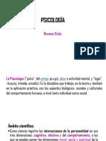 Psicología 9no. Ciclo. Interciclo E,F,G.