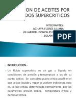 Extracion de Aceites Por Fluidos Supercriticos