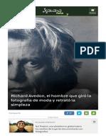 Richard Avedon El Hombre Que Giro La Fotografia de Moda y Retrato La Simpleza 1
