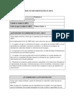 Ejemplo de Informe de Implementaci n Profesora 1