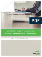 A Comprehensive List of the Top Sales Interview Questions 1