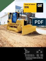 Catalogo Tractor Oruga Cadenas d3g Caterpillar Caracteristicas Beneficios Dimensiones Especificaciones Tecnicas