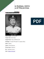 Biografi Frans Kaisiepo