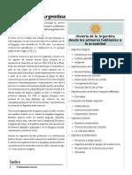 Historia de La Argentina.