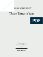 (Forschungen Zum Alten Testament 82) Shimon Gesundheit-Three Times a Year_ Studies on Festival Legislation in the Pentateuch-Mohr Siebeck (2012)