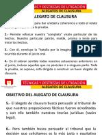 8.- Alegatos de Clausura