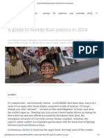A Guide to Middle East Politics in 2014 _ World _ the Guardian