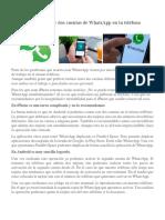 Aprenda a Usar Dos Cuentas de WhatsApp en Tu Teléfono