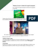 Conozca WhatsApp for Business