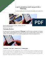 Los Mejores Trucos Que Te Permitirán Sacarle Más Provecho a WhatsApp