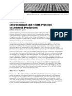Environmental and Health Problems in Livestock