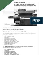 NEMA Motor Data Calculator _ EEP