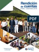 Revista Rendicion de Cuentas Otavalo 2016