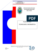 Plan Area Tecnologia e Informatica Mora Osejo 2017