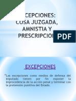 Excepciones Penal Perú
