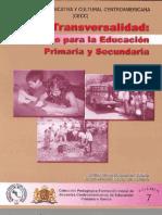 La Transversalidad Un Reto Para La Educacion Primaria y Secundaria