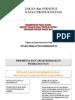 Kebijakan Dan Strategi PRODUKTIVITAS- 2017