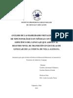 Análisis de Las Habilidades Metalingüísticas 2014
