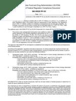 FDA Compliance MA 00929 PP SC
