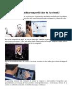 Cómo Identificar Un Perfil Falso de Facebook