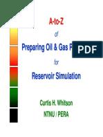 Preparing PVT for Simulation Models